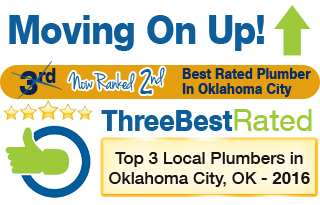 Moving On Up Award - Top Three Best Rated Plumber in Oklahoma City