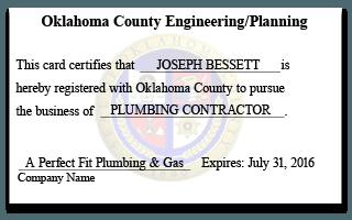 Oklahoma County Plumbing Contractor